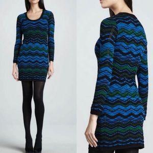 NWOT M Missoni Knit Bias Plaid Dress